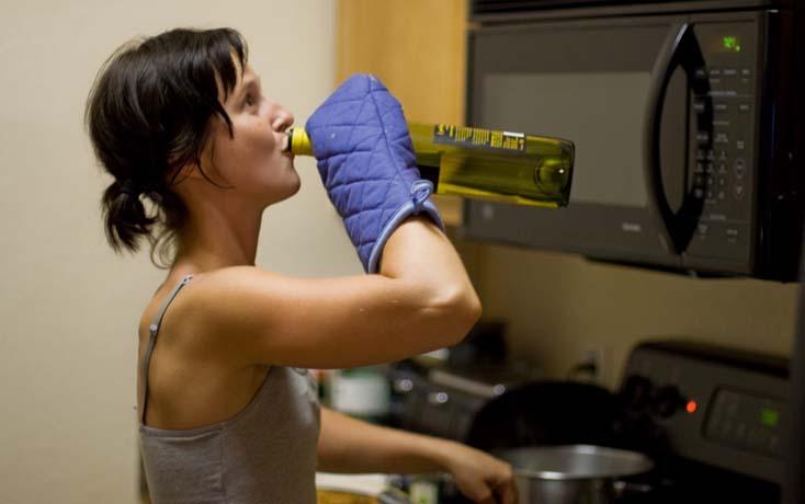 От алкоголя выпадают волосы